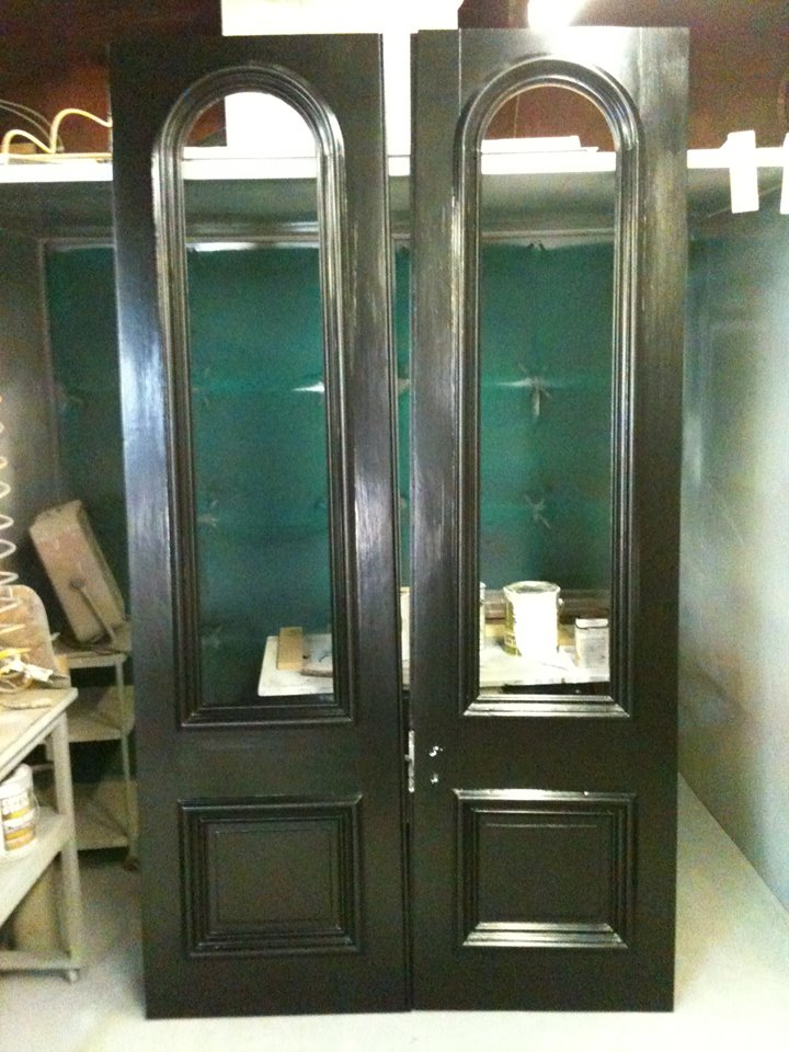 Refurbished wooden storm doors